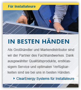 Clear Energy Systems für Installateure