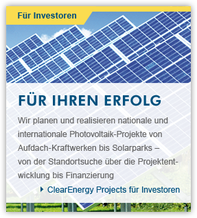 Clear Energy Projects für Investoren